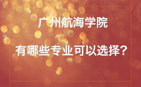 广州航海学院有哪些专业可以选择