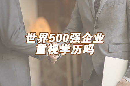 世界500强企业重视学历吗