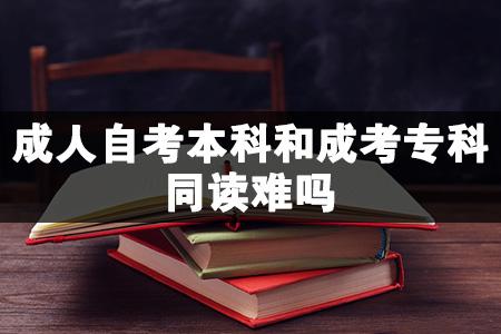 成人自考本科和成考专科同读难吗