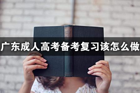 广东成人高考备考复习该怎么做