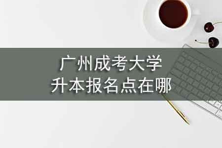 广州成考大学升本报名点在哪
