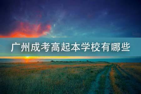 广州成考高起本学校有哪些