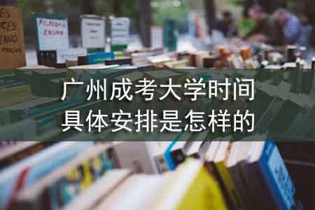广州成考大学时间具体安排是怎样的