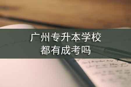 广州专升本学校都有成考吗
