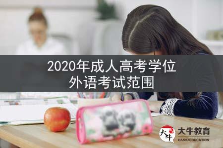 2020年成人高考学位外语考试范围
