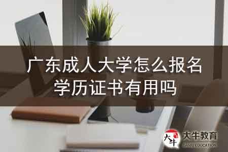 广东成人大学怎么报名,学历证书有用吗