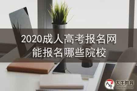 2020成人高考报名网能报名哪些院校