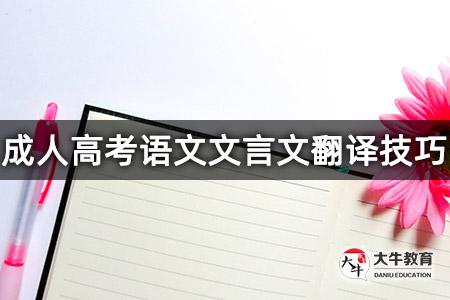 成旧——成人高考语文文言文翻译技巧