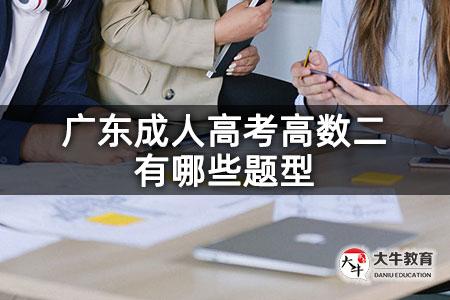 广东成人高考高数二有哪些题型