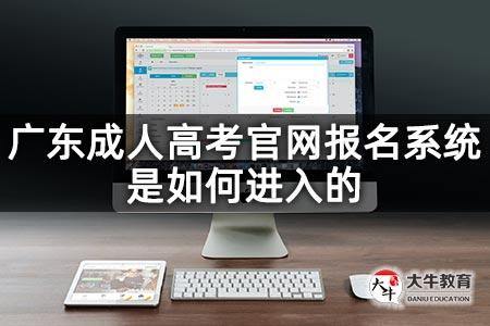 广东成人高考官网报名系统是如何进入的