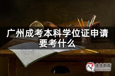 广州成考本科学位证申请要考什么