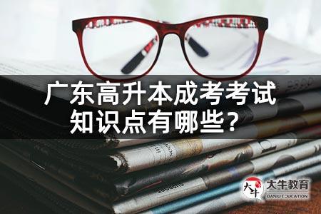 广东高升本成考考试知识点有哪些?