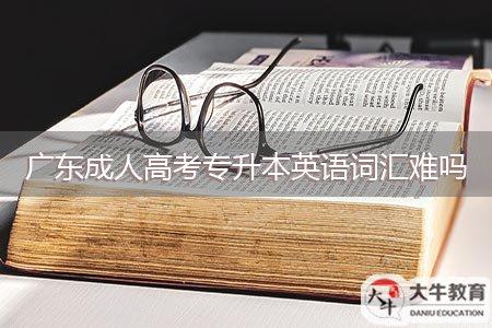 广东成人高考专升本英语词汇难吗