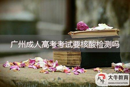 广州成人高考考试要核酸检测吗