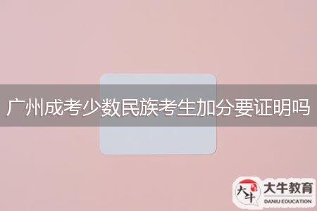 广州成考少数民族考生加分要证明吗