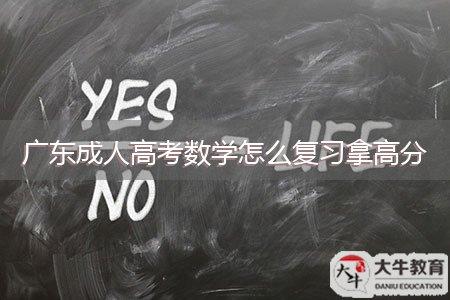 广东成人高考数学怎么复习拿高分