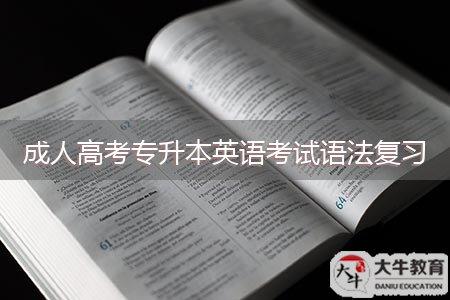 成人高考专升本英语考试语法复习