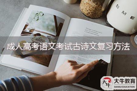 成人高考语文考试古诗文复习方法